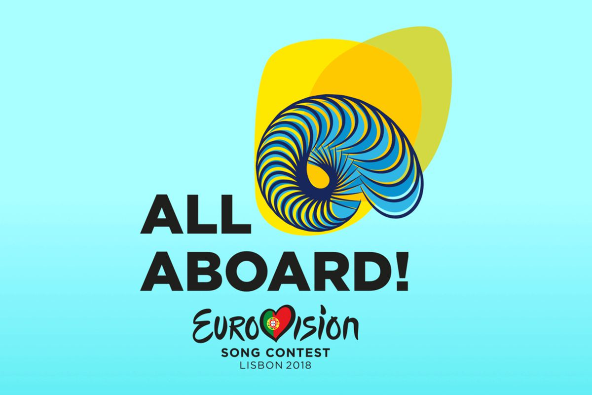 All Aboard! - The Eurovision Song Contest 2018 Logo and Slogan