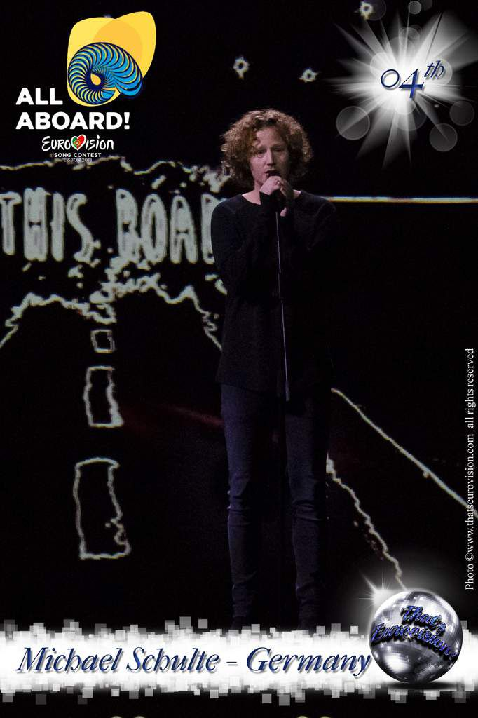 Germany - Michael Schulte - 4th All Aboard!