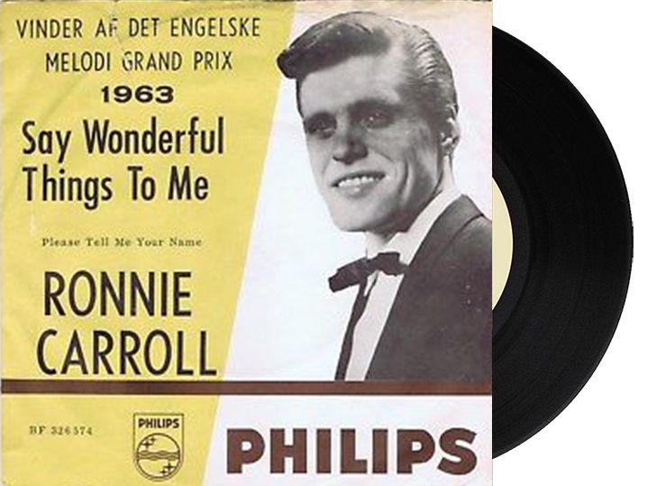 "4th - United Kingdom - Ronnie Carroll ""Say Wonderful Things"" (28 points)"