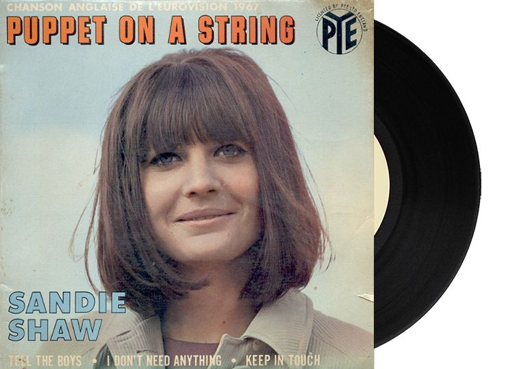 "1st - United Kingdom - Sandie Shaw ""Puppet on a string"" (47 points)"