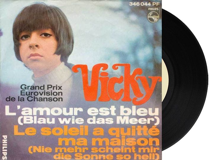 """4th - Luxembourg - Vicky Leandros """"L'amour est bleu"""" (17 points)"""