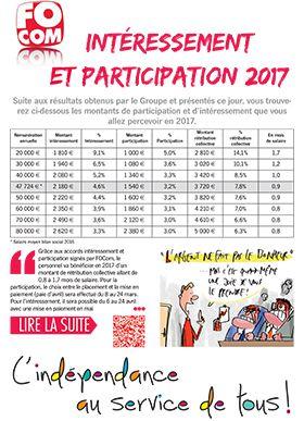 INTERESSEMENT ET PARTICIPATION 2017