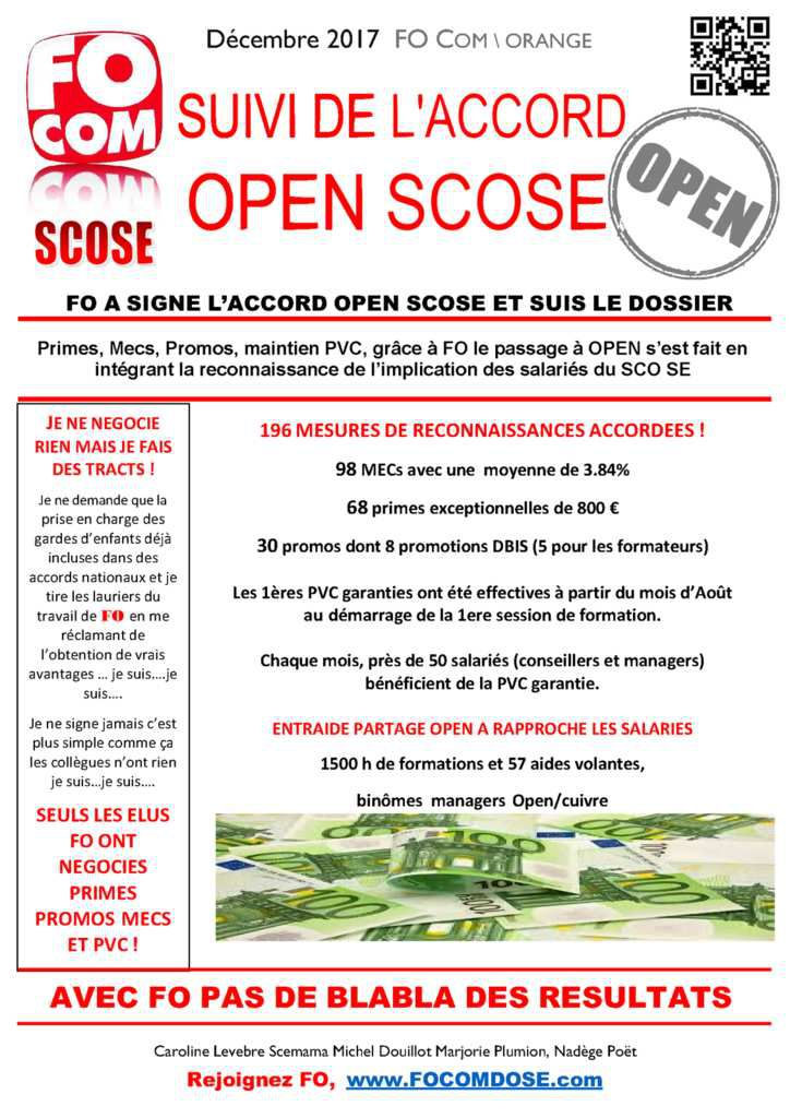 Commission de suivi de l'ACCORD OPEN SCOSE