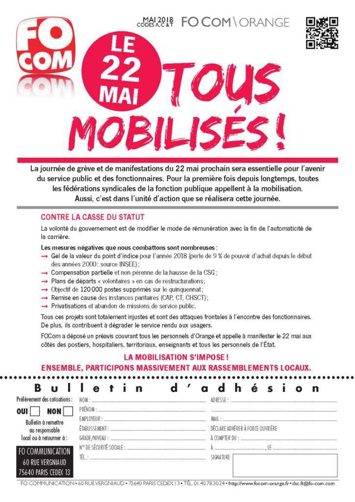 Journée de Mobilisation du 22 Mai