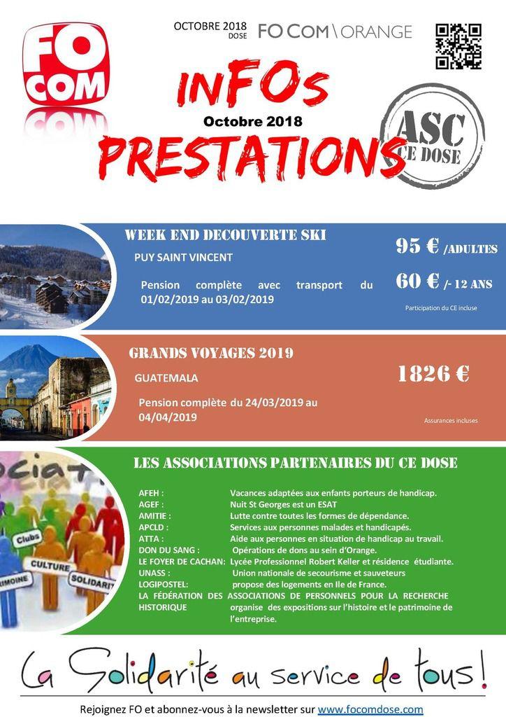 PRESTATIONS ASC  CE DOSE OCTOBRE 2018