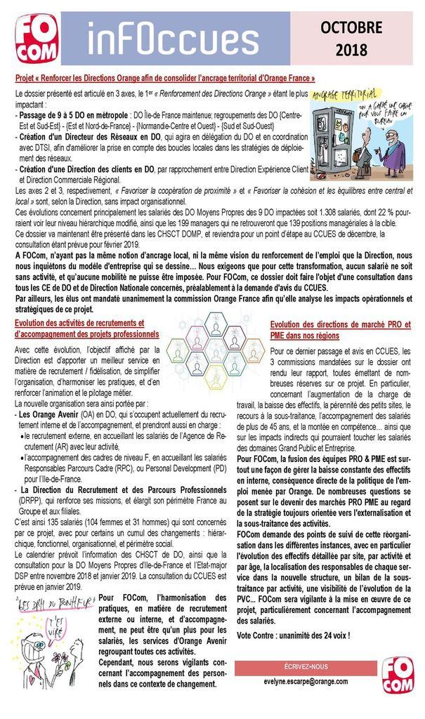Infos CCUES Octobre 2018