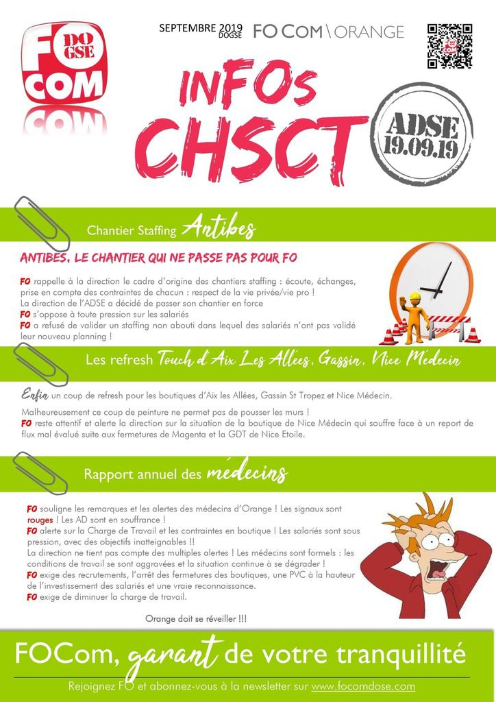 CHSCT ADSE SEPTEMBRE 2019