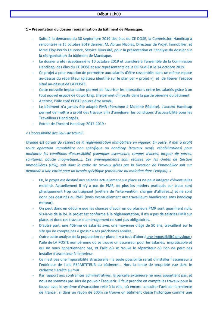 COMPTE RENDU DE LA COMMISSION HANDICAP 15-10-19 DO