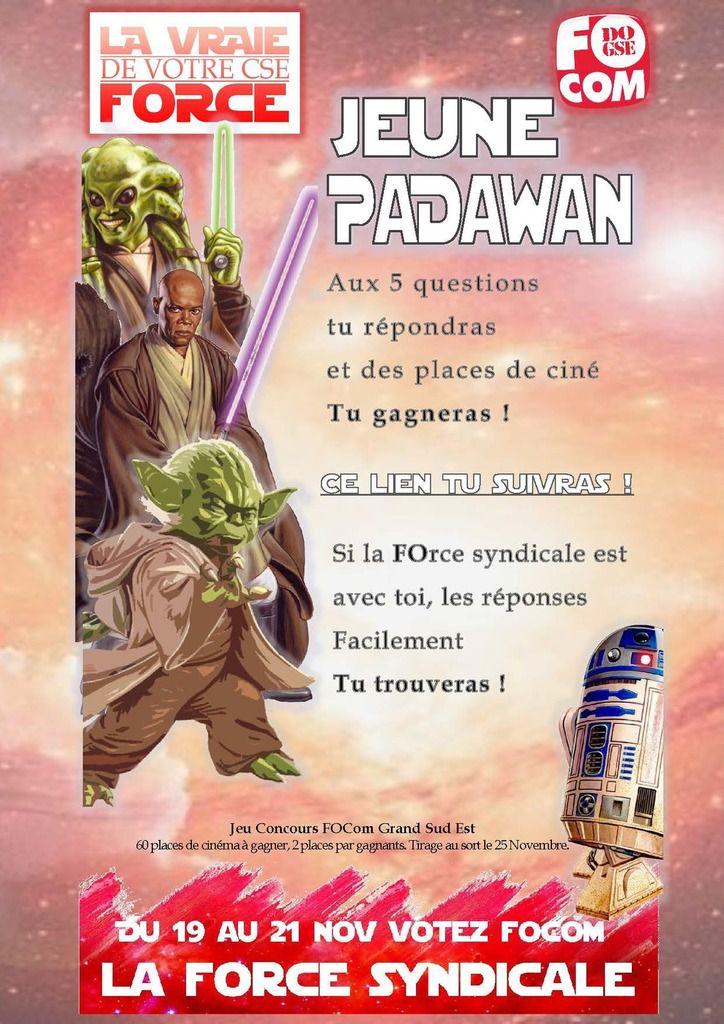 JEU Star Wars: Gagnez des places de cinéma avec FOCom GSE !