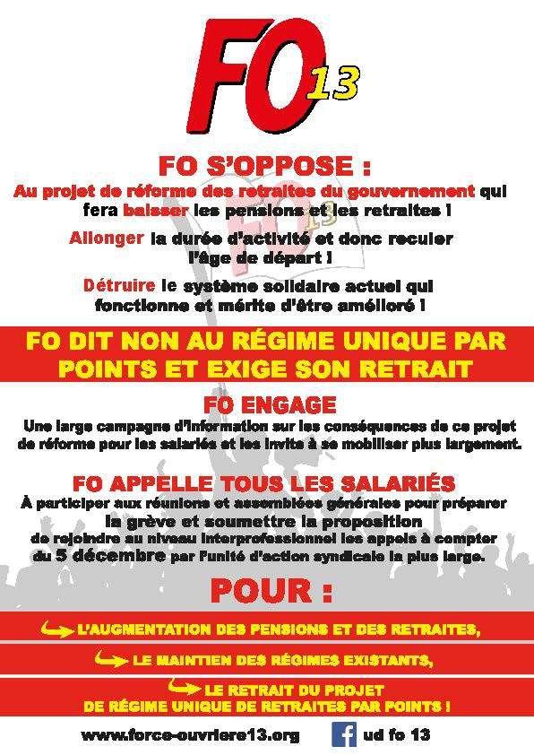Mobilisons nous contre la éforme des retraites le 5 décembre !!!!
