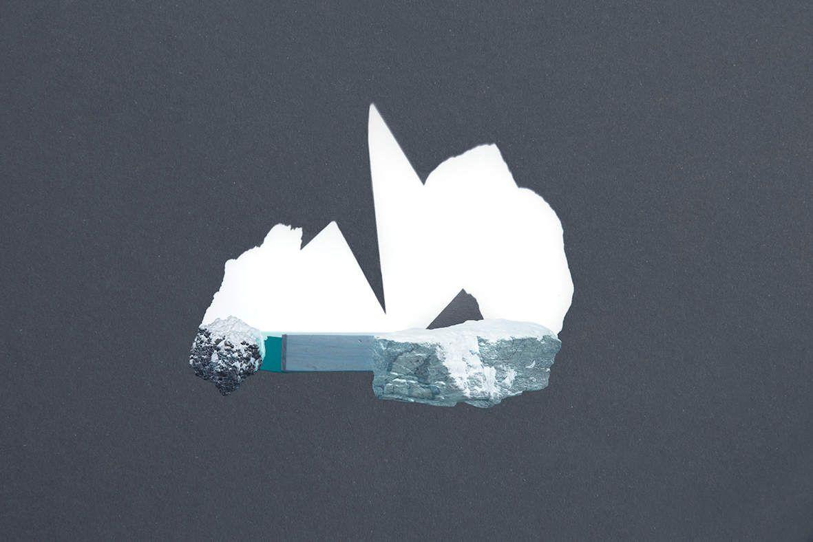 """""""Ombre blanche 1"""" de la série Oxymores 2017 Impression jet d'encre sur papier coton Hahnemühle  contrecollé sur aluminium - 61 x 88 cm -1/5 - 950€"""