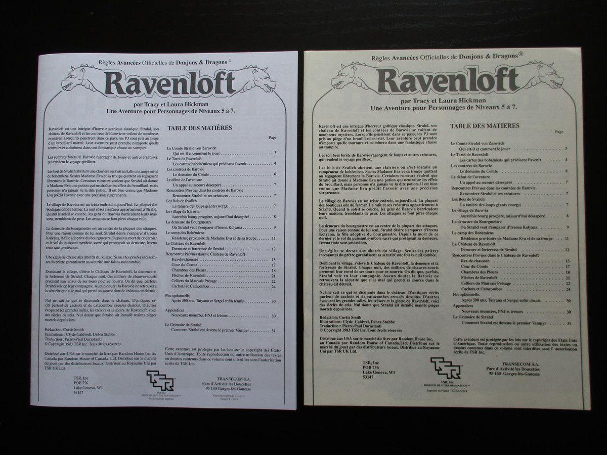 Et enfin quelques photos du livret (l'original, comme vous l'aurez deviné, est celui dont le papier est jauni)