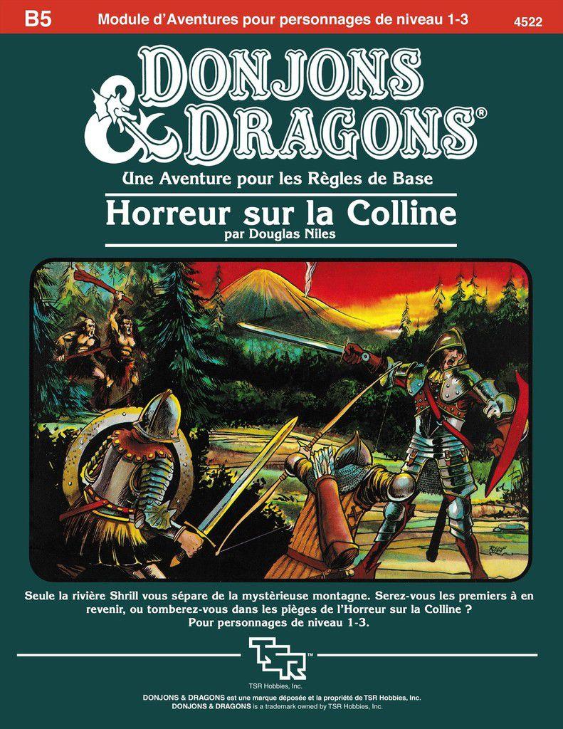 """Les restaurations du dragon : D&D module B5 """"Horreur sur la colline"""""""