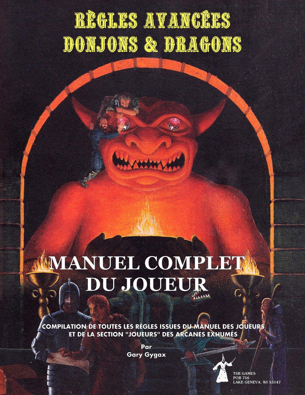"""Le """"Manuel Complet du Joueur AD&D"""" fait peau neuve !"""