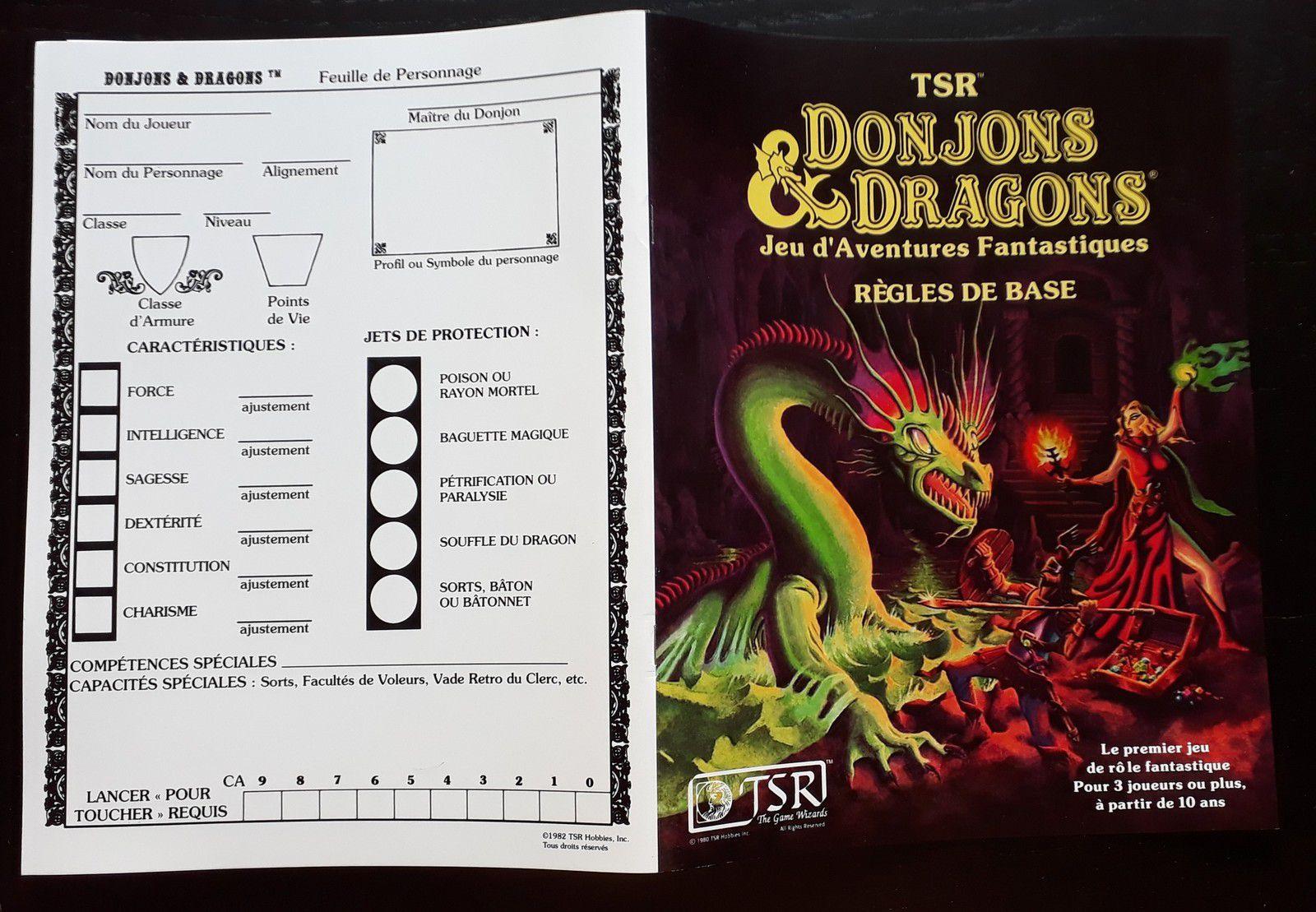 D&D règles de Base version Moldvay... LA révision !!!