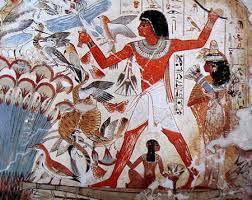 Fresque d'animaux Egypte antique