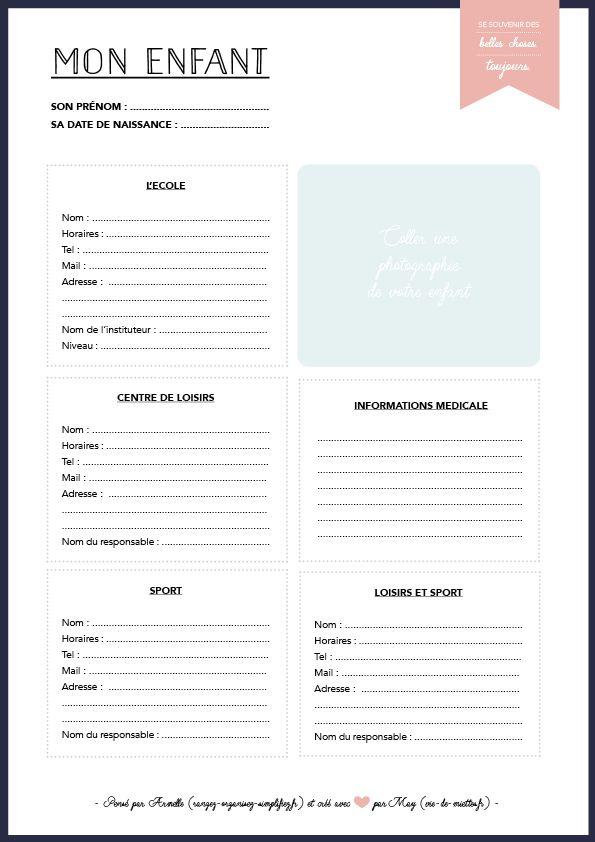 Kit complet pour ne rien oublier et s'organiser au quotidien , gratuit et à télécharger  !