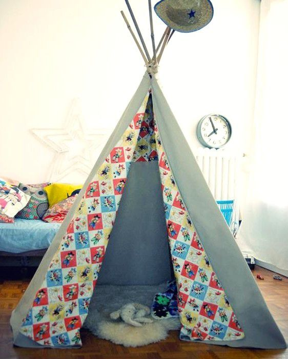 tuto comment fabriquer un tipi pour ses enfants en. Black Bedroom Furniture Sets. Home Design Ideas