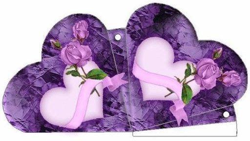 Jolies boites colorées pour la fête des mères et des pères , en forme de coeur , à imprimer et à découper !