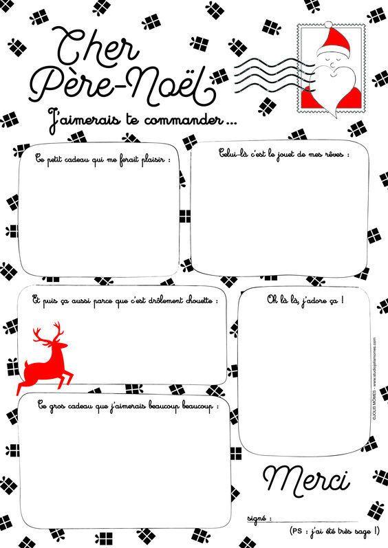Lettres au Père Noël , à imprimer !