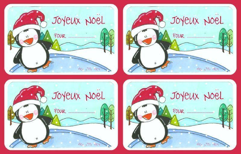 Etiquettes Noël à imprimer pour étiqueter nos cadeaux !