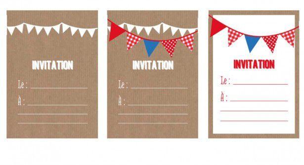 Cartes d'invitation pour son anniversaire , à imprimer !