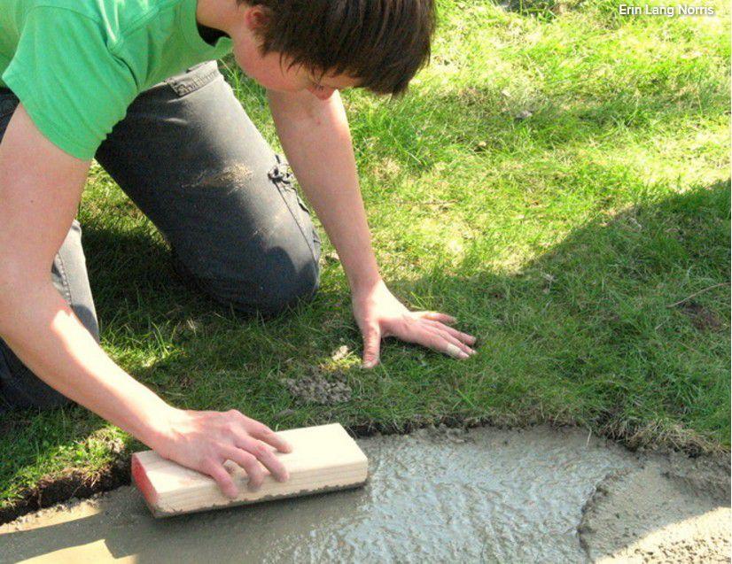 DIY bricolage : réaliser un foyer de jardin en pierre , en suivant le pas à pas en images !