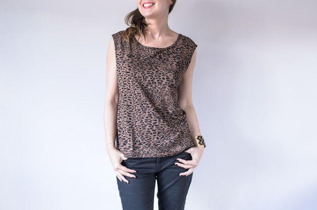 Tuto couture : tee shirt de l'été en jersey ou en jersey viscose , en téléchargeant son patron gratuit !