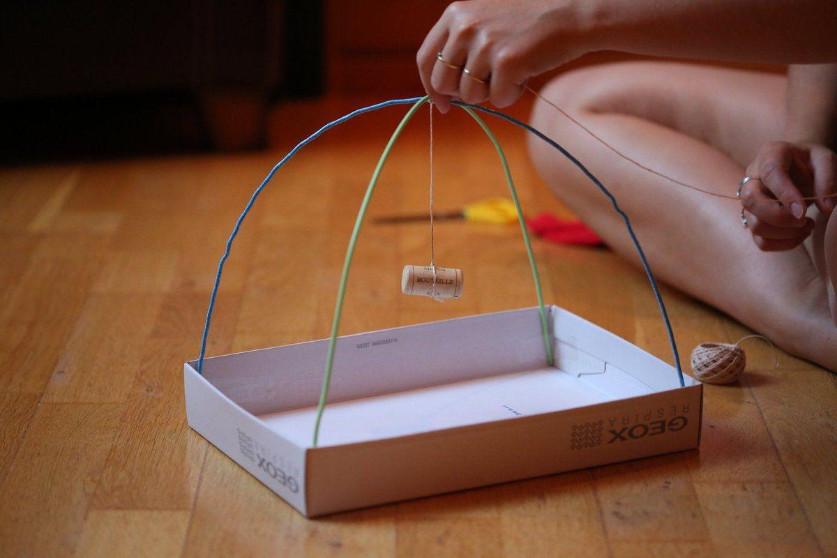 DIY : réaliser une tente pour son chat avec de la récup et son pas à pas en images !