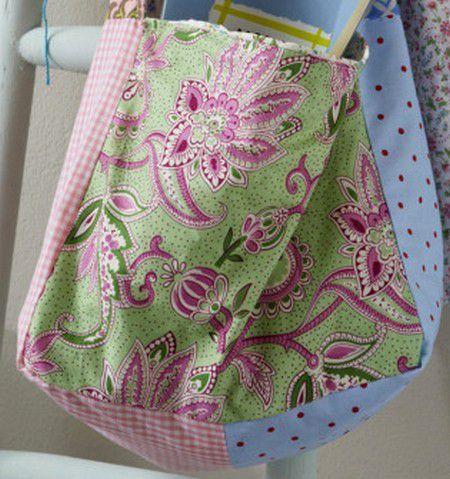 Tuto couture : réaliser un tote bag en patchwork réversible , en suivant son pas à pas en images , facile à suivre ! !