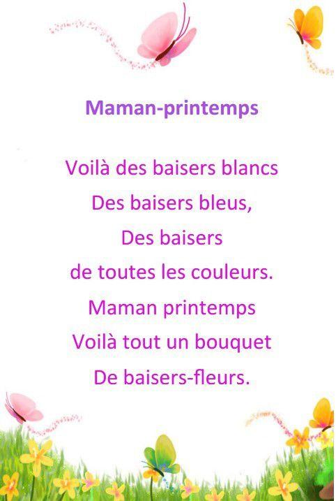 Poèmes , comptines , poésies Bonne Fête Mamans , à imprimer gratuitement !
