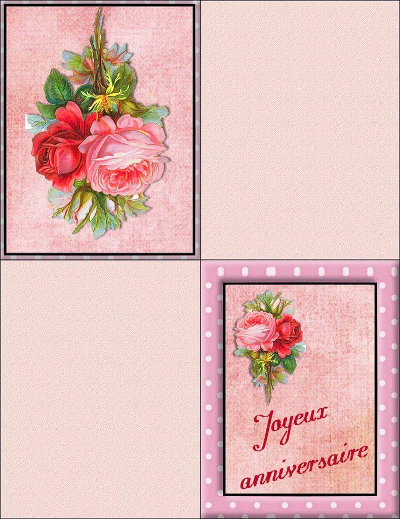 Ravissantes cartes d'anniversaires , à imprimer gratuitement !