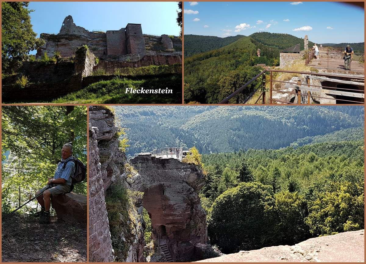 Rando du  20 au 22 août. Les châteaux forts des Vosges du Nord