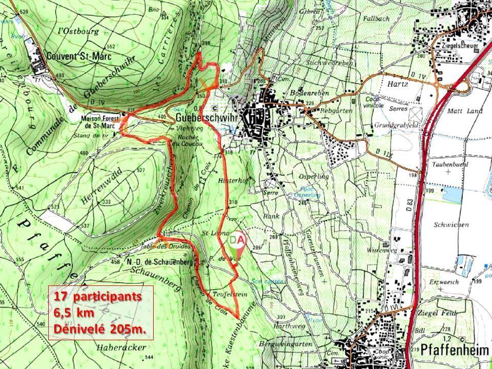 Rando du 6 novembre -Pierres Remarquables des Hauts de Gueberschwihr