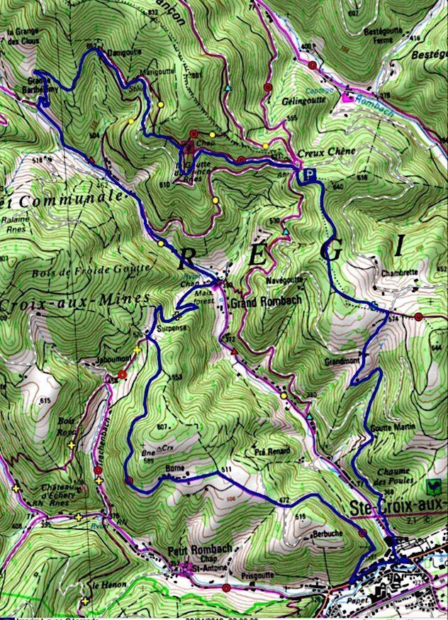 Rando du 30 avril - Le Val de Liepvre, ses hameaux, ses sources (goutte) et son histoire.