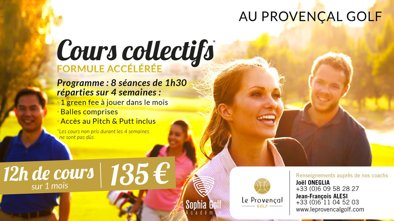 COURS COLLECTIFS PROVENCAL GOLF