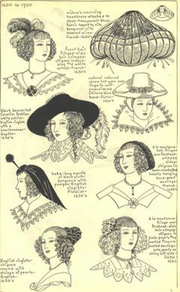 Chapeaux période 1600-1700