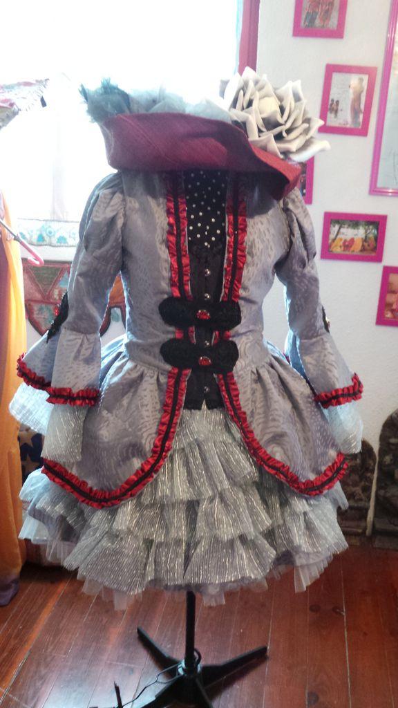 Robe Carnaval de Venise grise