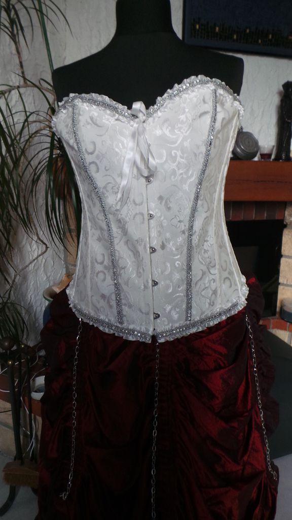 Robe Steampunk bordeaux et violet
