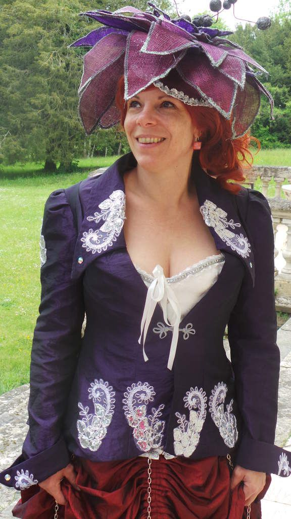 Photoshoot Robe Steampunk bordeaux et violet