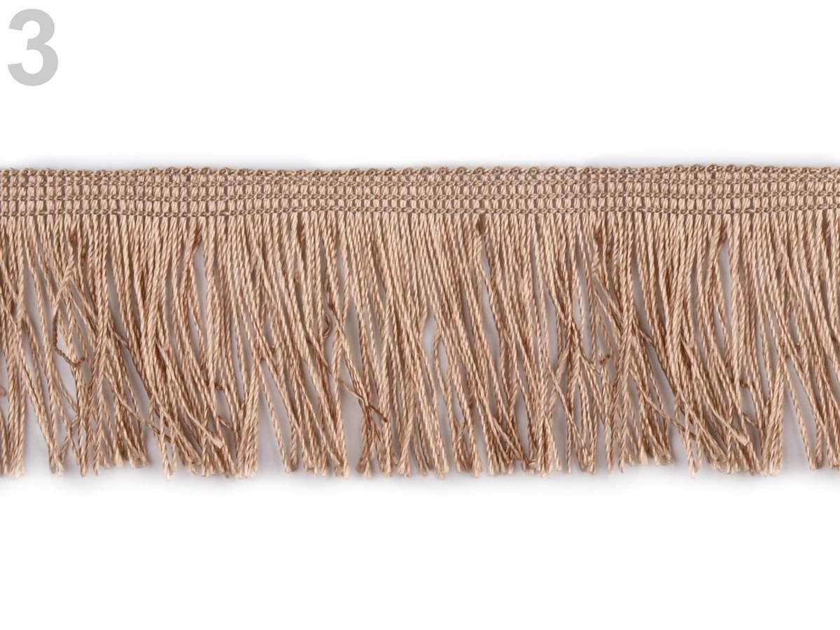 galon à franges (à utiliser par exemple sur une pochette, pris dans la couture du fond du sac)