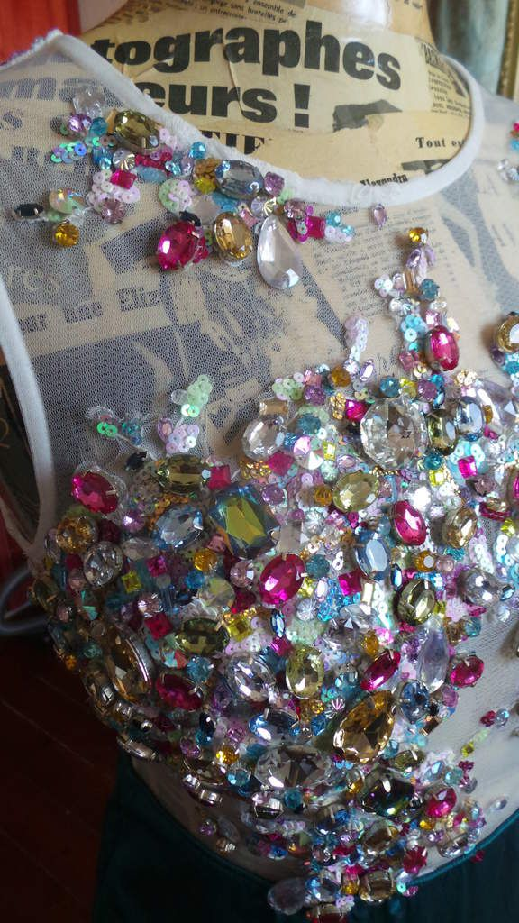 Robe Strass turquoise