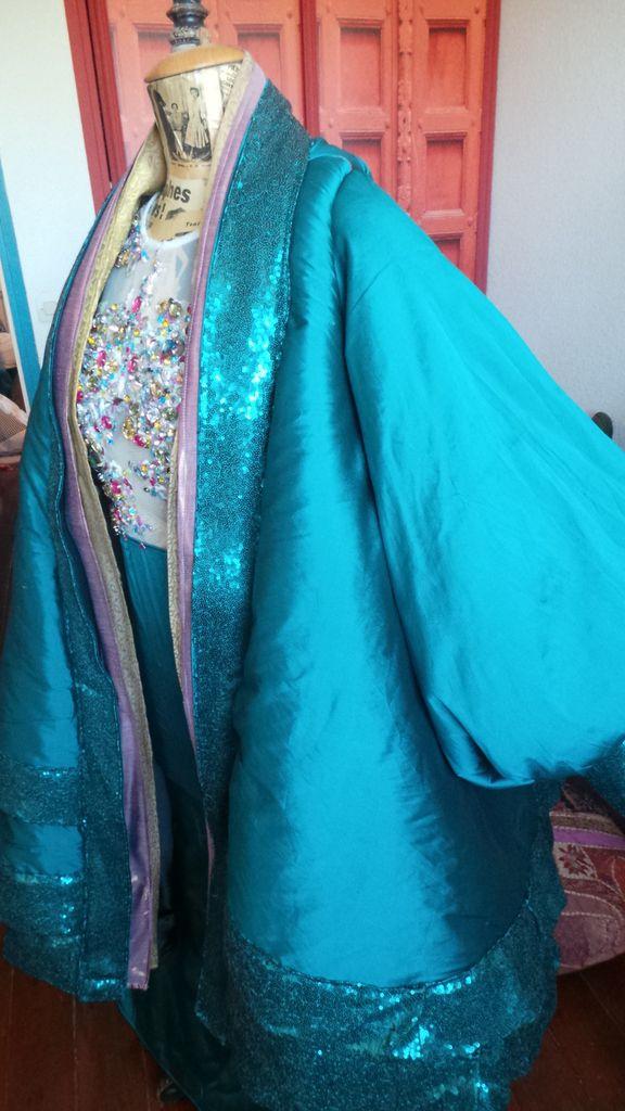 Tuto Manteau Kimono Turquoise