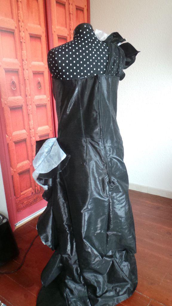 Tuto Robe noire et argent Fleur