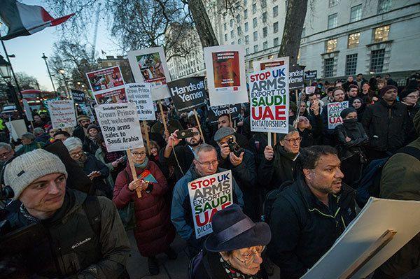 En mars, la visite de Ben Salman a poussé de nombreux manifestants à exprimer leur mécontentement dans les rues (photo: Guy Smallman)