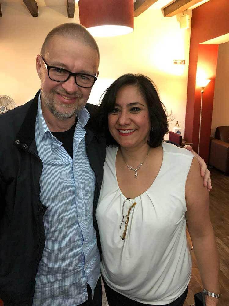 2018 avec Irma Sandoval à Mexico - Ministre chargée de l'administration publique