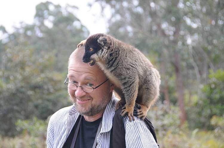 Un lémurien m'est tombé dessus, à Madagascar