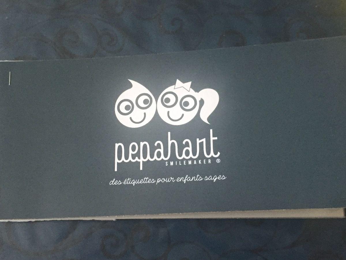 Mon loulou a testé les étiquettes #Pepahart