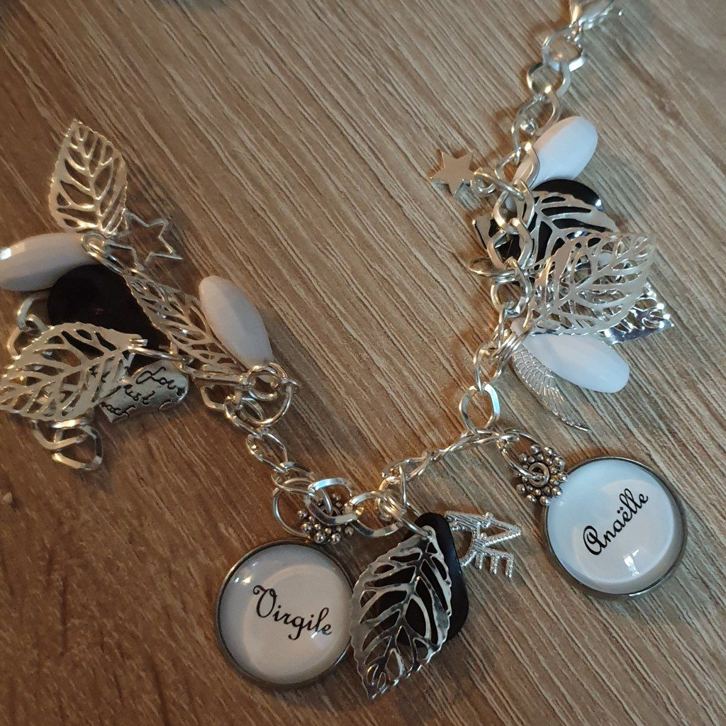 Un joli bracelet aux prénoms de mes loulous  Mila With You