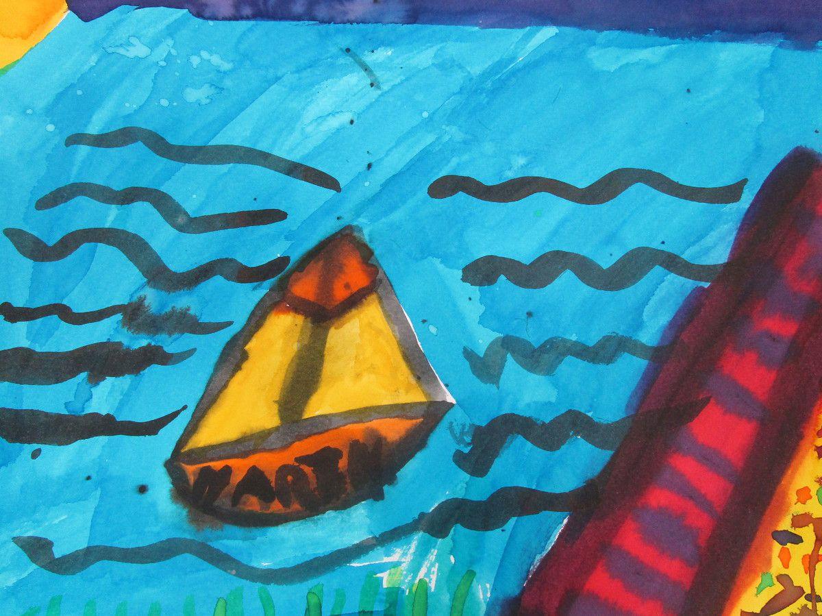 Nos dessins du bateau!!